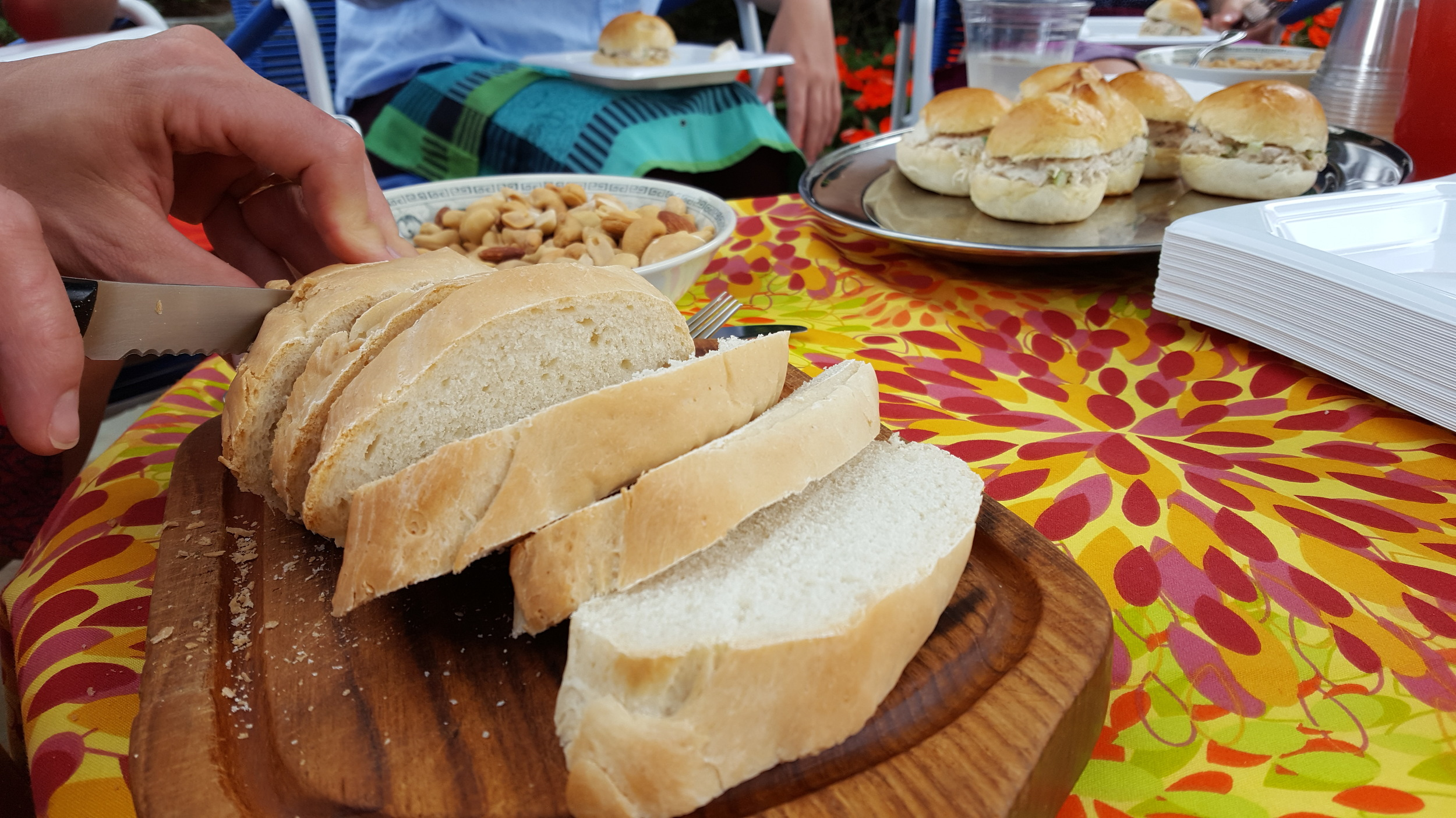 Homemade bread at the picnic