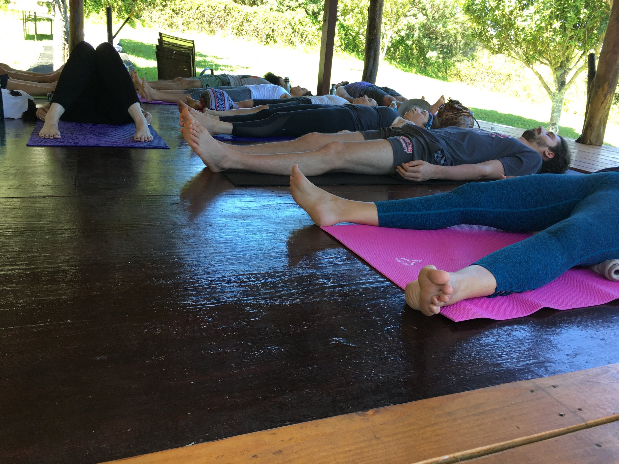 Yogic rest enables the body to integrate movement.