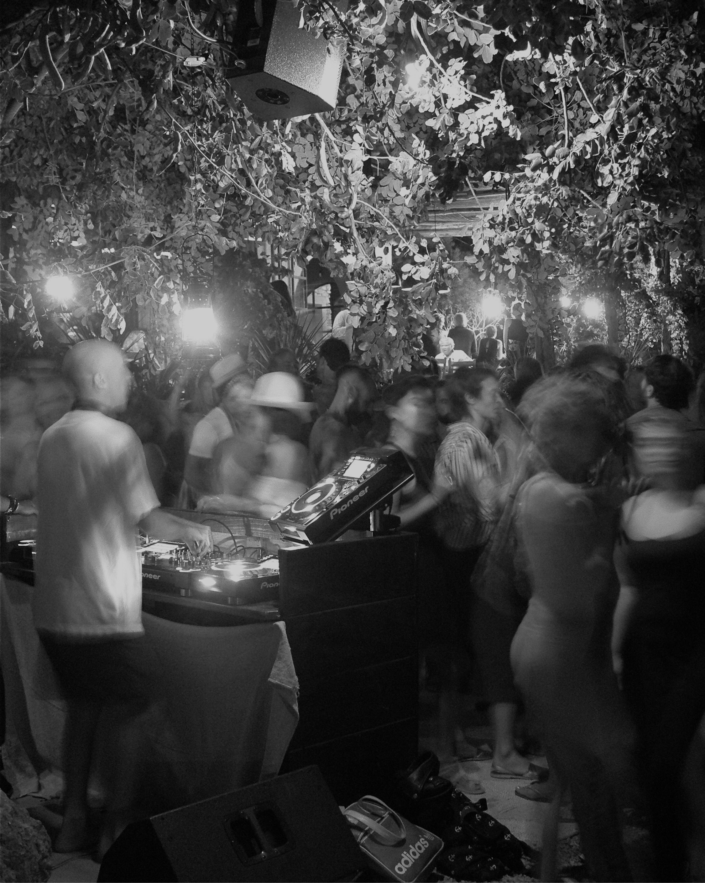 A music ritual at La Granja Ibiza, focused on electronic and world music