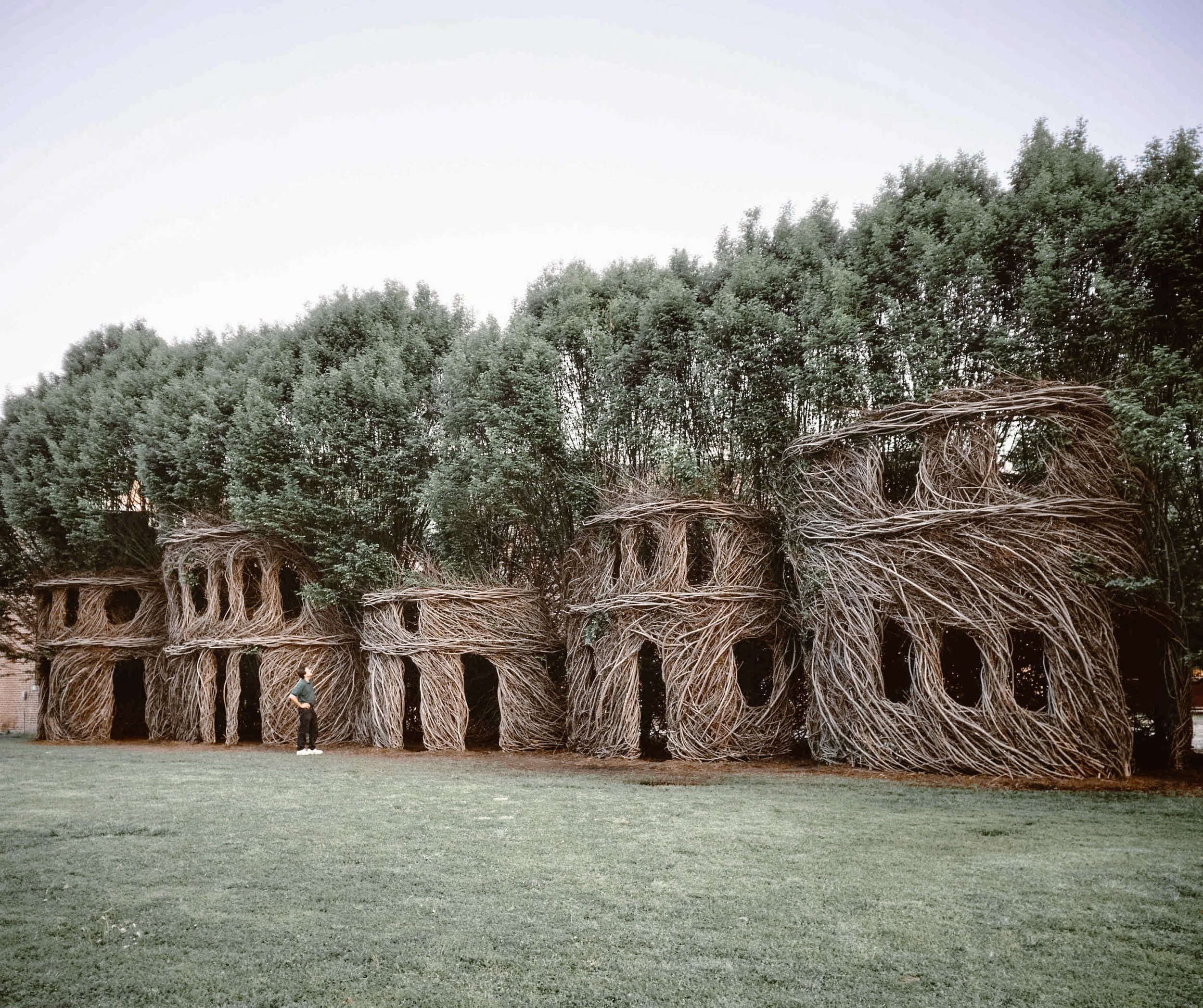 Patrick Dougherty: Just Around the Corner, installed in New Harmony, Indiana (2003)