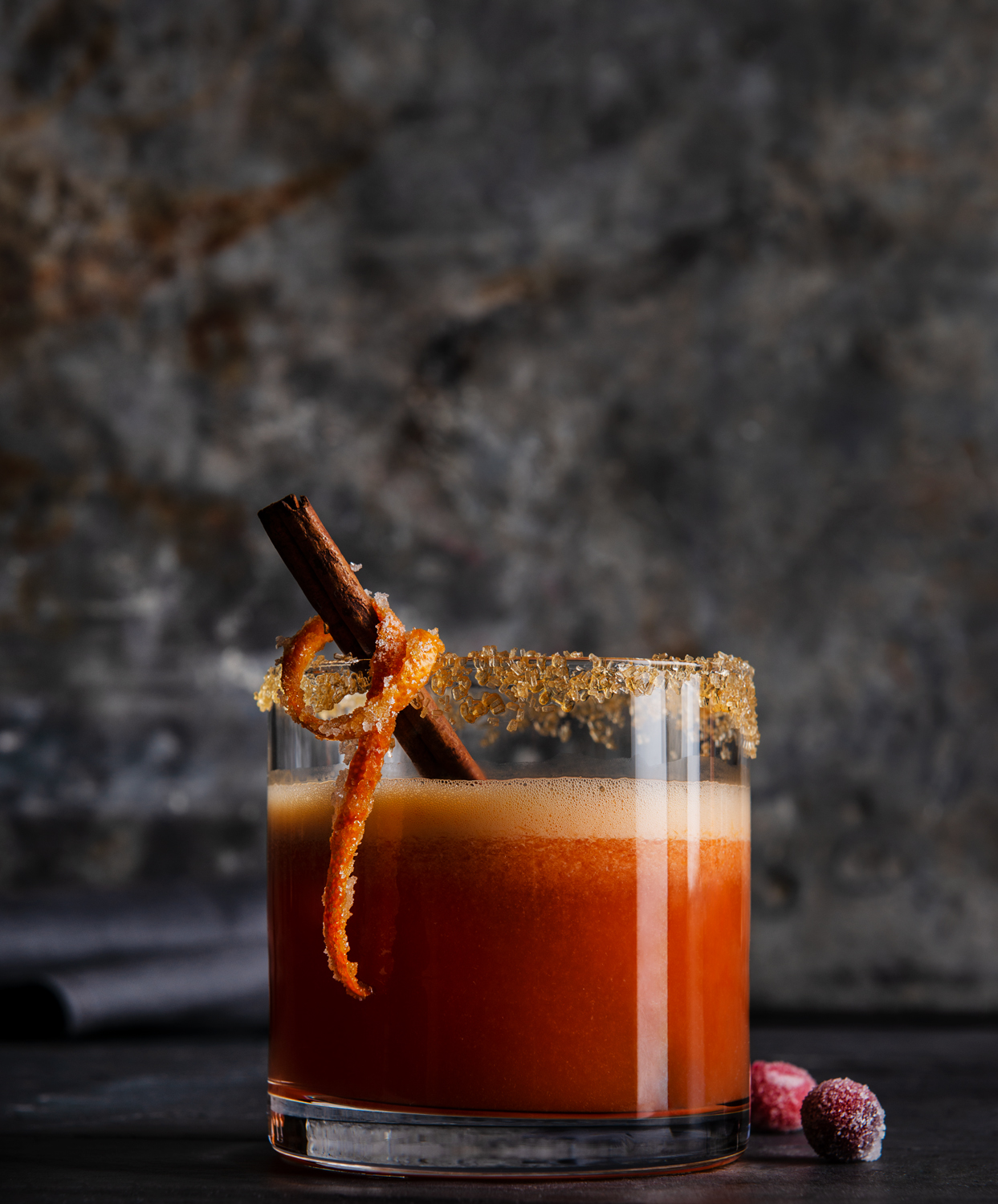 Spiced Cranberry Cognac Sour - Photo by Michael Marquand