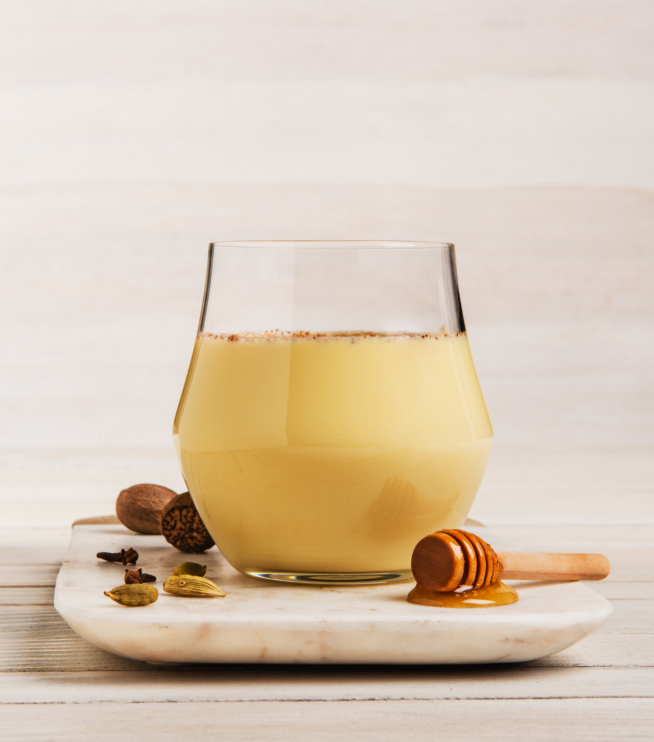 Honeyed Cardamom Clove Cognac Eggnog -  Photo by Michael Marquand