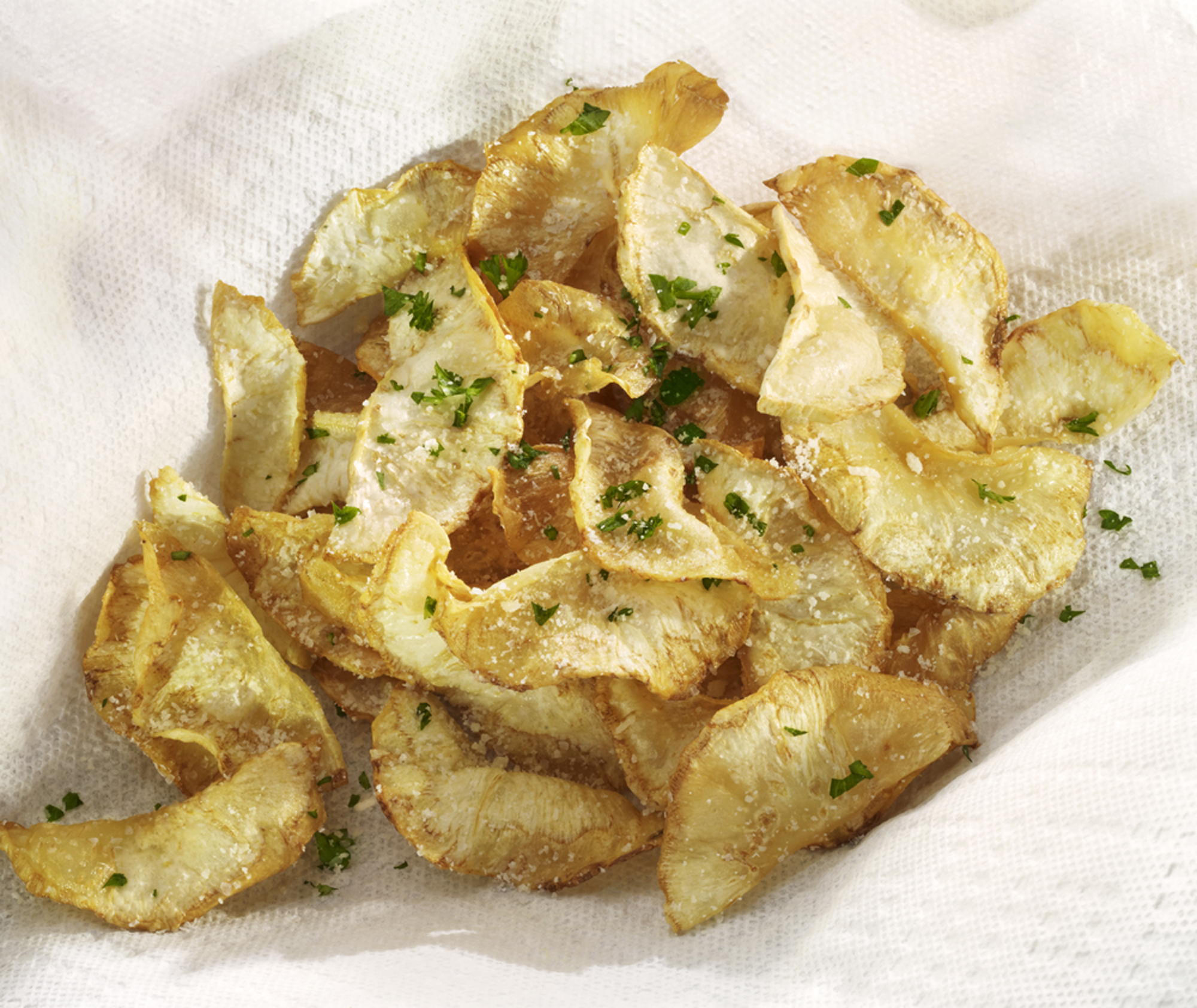 Herbed Celeriac Chips   Photo by David Bishop