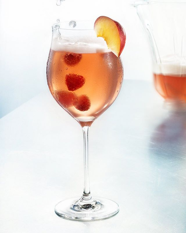 Raspberry Peach Daiquiry to bring out the berry best of Spring! #daiquiry #beverages #rum #mixology #instagood #drinks #party #yummy #refreshing #happy #bartending #beveragestyling #foodandbeverage #cocktails #alcohol #restaurant #bar #photography