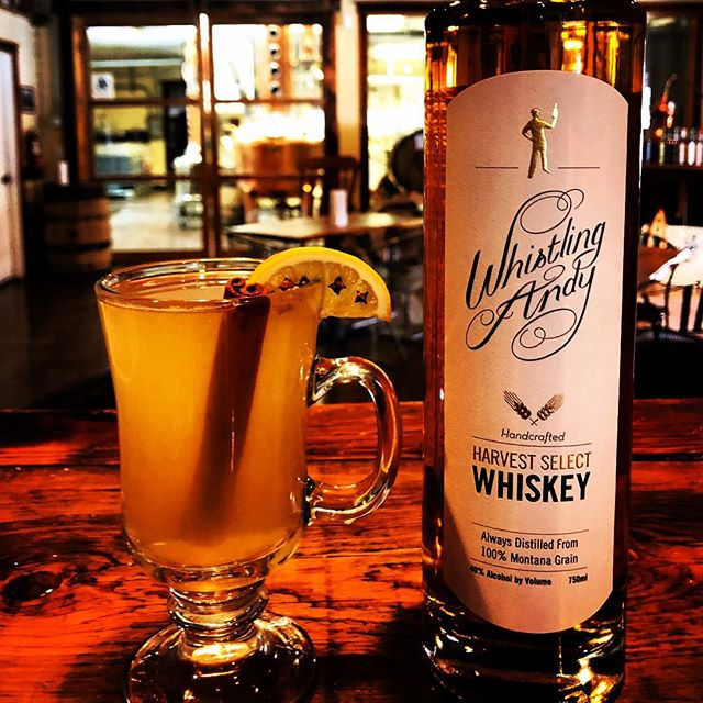 6 degrees outside?  That's no match for a Mission Hot Toddy featuring our Harvest Select Whiskey!  Tasting Room is open!  Come get out of the cold in #BigforkMontana