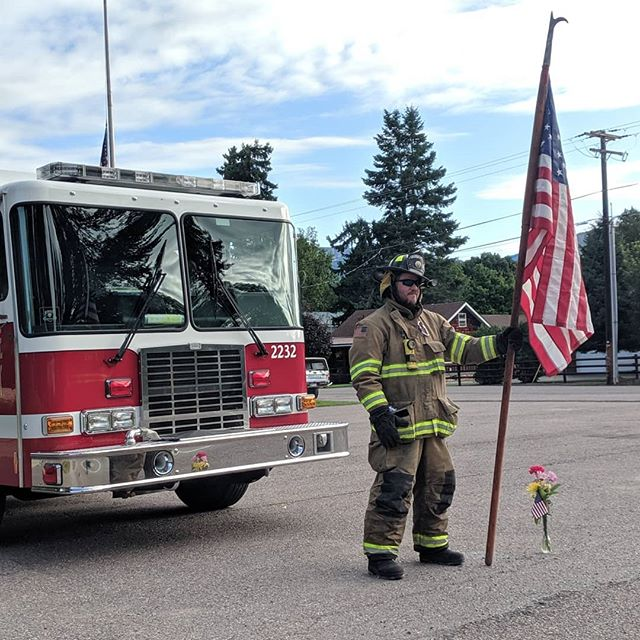 Very surreal visiting the 9/11 Memorial earlier this year. Thank you to all our First Responders, today we honor you. Come by the Distillery for a free drink on us! Thank you  Bigfork, Ferndale Fire and all the other Department's for honoring today.  Never forget 09-11-2001