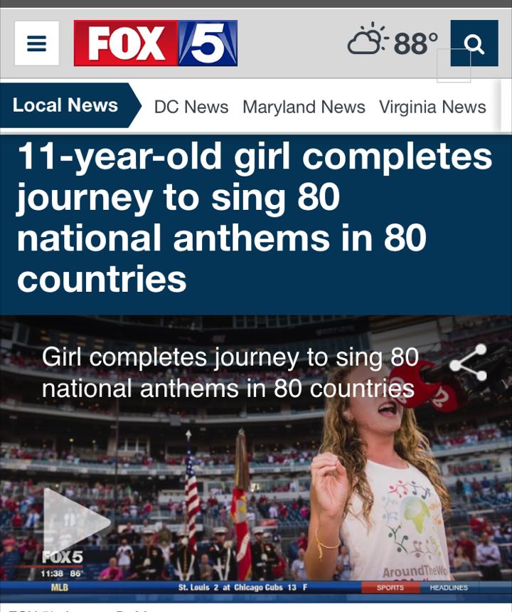 Capri Sings Anthem 80 of 80!