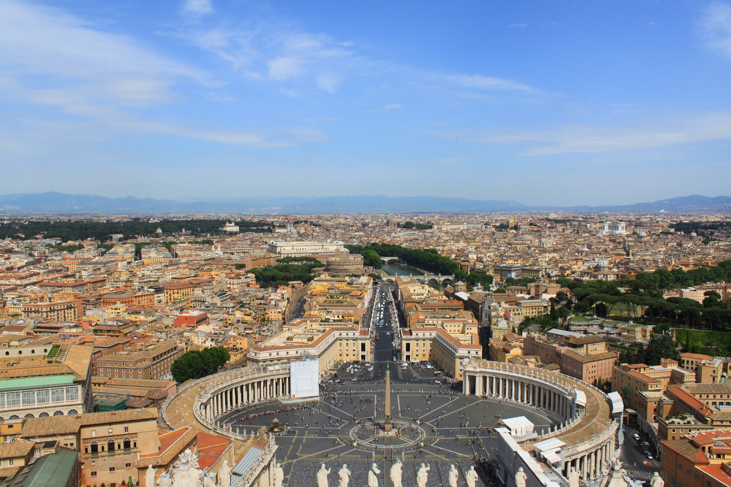 Saint Peter's Square as seen from the Basilica's cupola