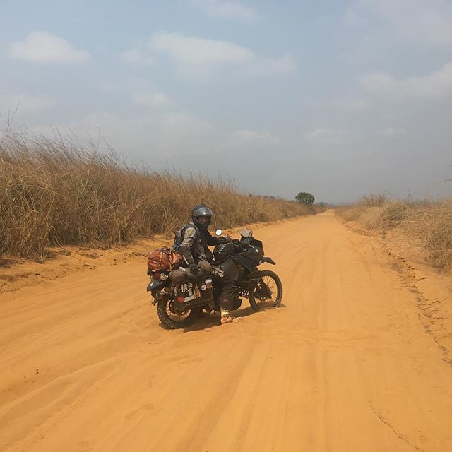 Not an easy day a few weeks ago in The Democratic Republic of the Congo.  #klr650 #klrsonly #rtw #roadtrip #africa #congo #drcongo #rdc #motorcycletravel #moto #sand
