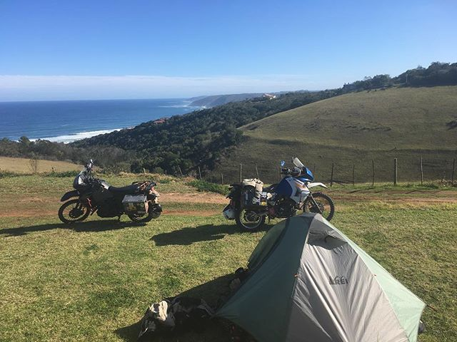Sometimes we camp in nice places.  #camping #klr650 #klrsonly #klr #southafrica #rtw #overland #rei #motorcycle #motorcycletravel