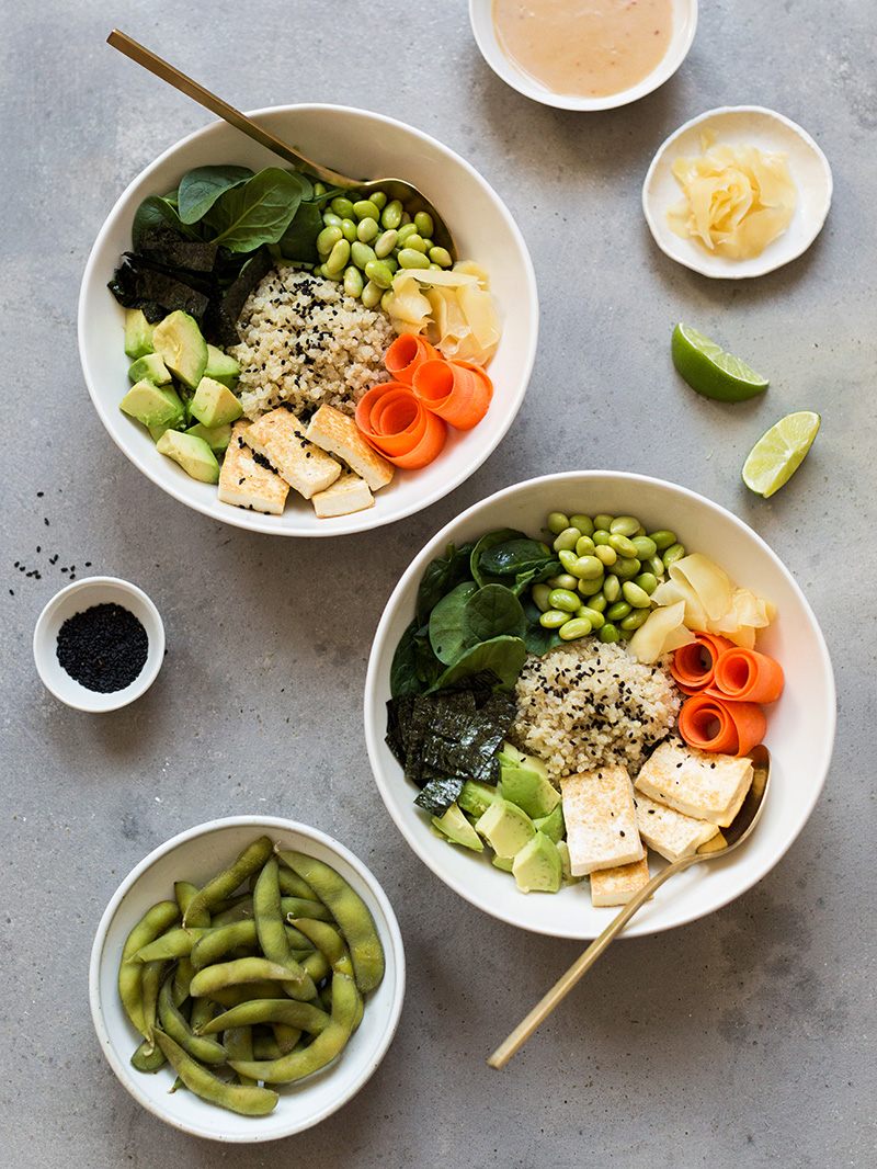 this deconstructed sushi bowl ( recipe link ) got the official RD stamp of approval as a great way to replenish after working out.