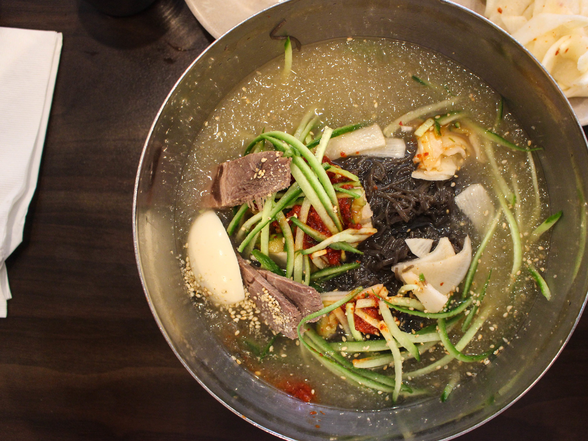 One of my personal must-eat meals in LA: 냉면 (cold arrowroot noodles) at  Yuchun .