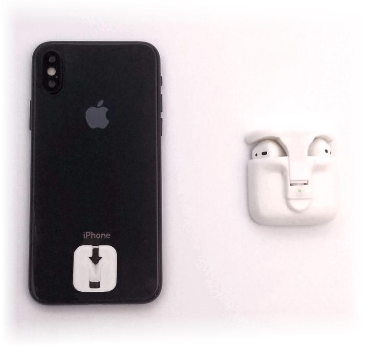 Clip your Airpods to your phone. - Stick the ultra thin Podpack Tab to the back of your phone or case, and simply slide the Podpack on whenever you want to have amazing wireless audio with your AirPods, a kickstand, and a better grip on your phone. So in other words, ALWAYS! You will always want to have the Podpack on your phone.When it is time to charge the Podpack, just push the button under the kickstand, and the Podpack instantly releases and slides off.