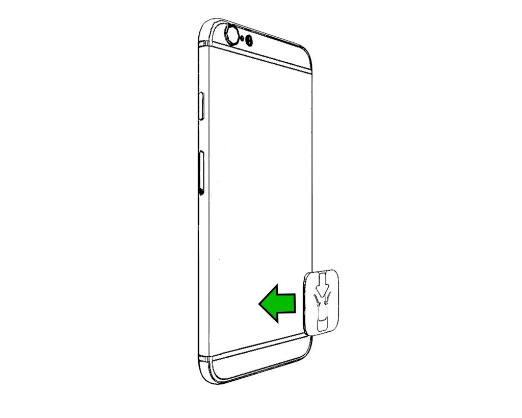 Step 1: Stick the Podpack Tab to your phone or case. -