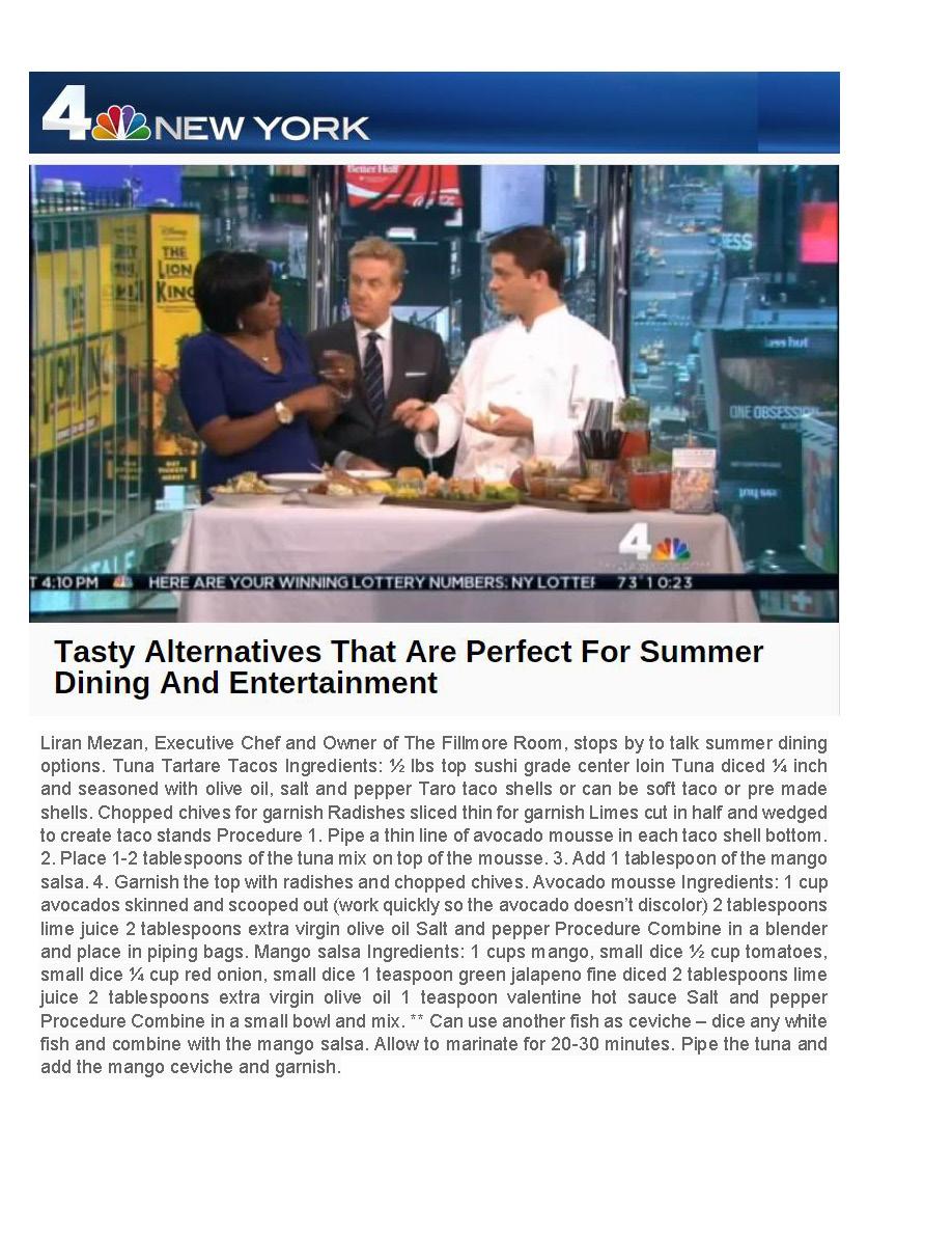 The Fillmore Room NBCNewYork.com Summer Dining Options with Liran Mezan 7 5 2015.jpg