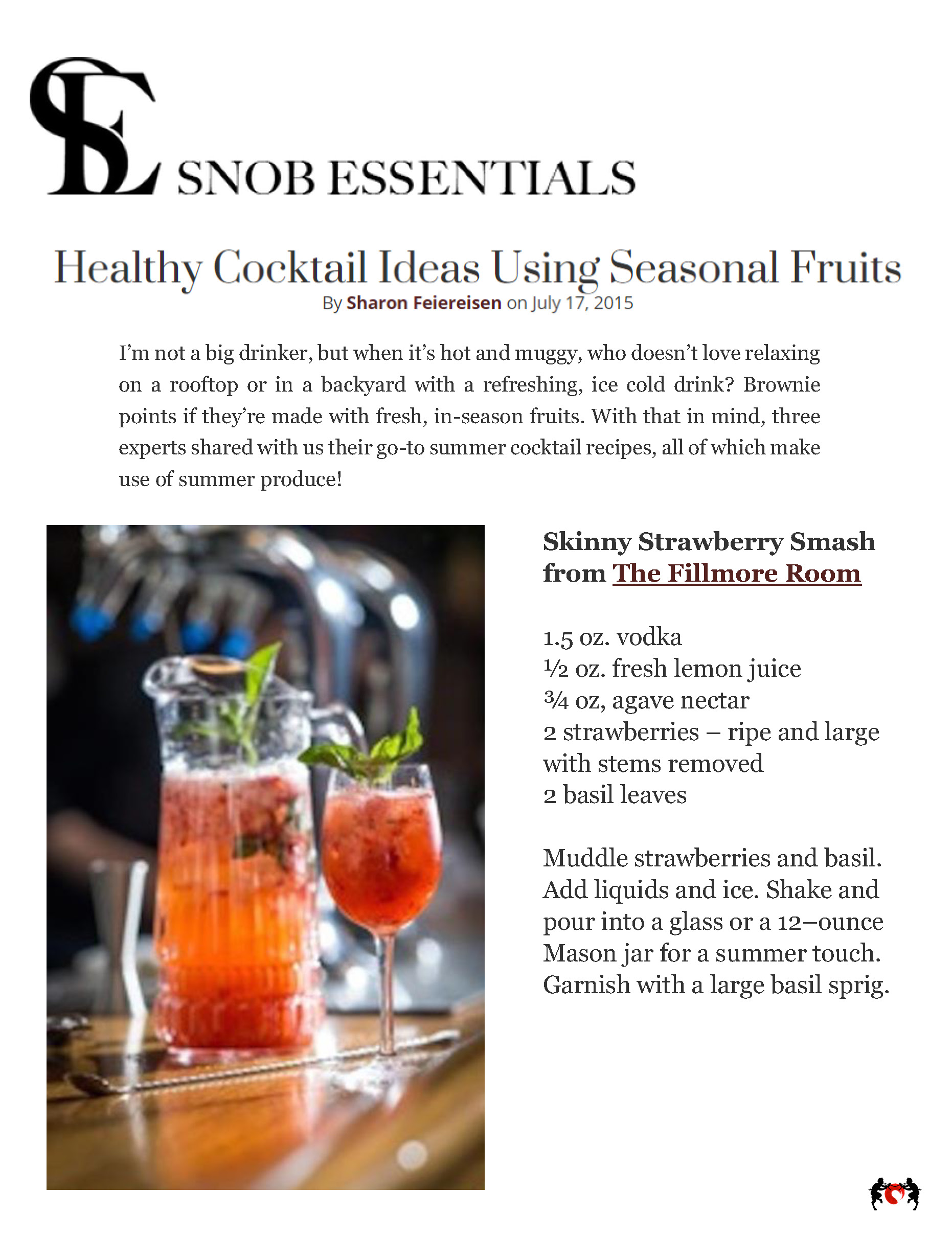 The Fillmore Room SnobEssentials.com Healthy Cocktail Ideas 7 17 15.jpg