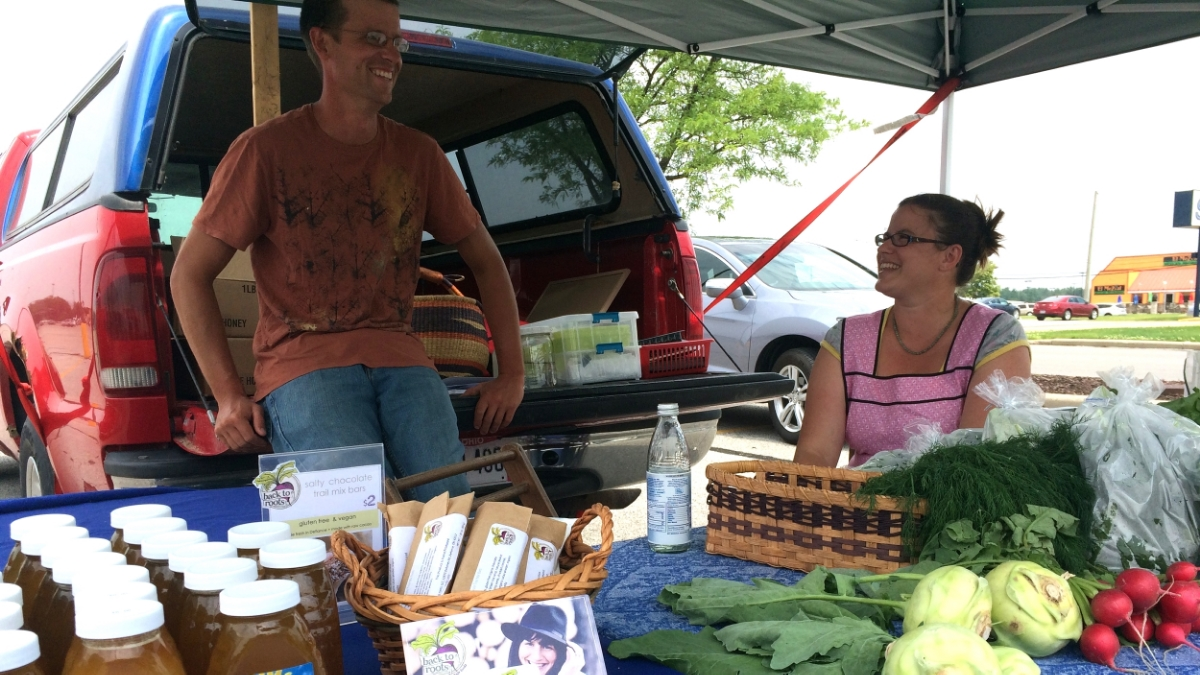 At the 2015 Farmer's Market in Defiance