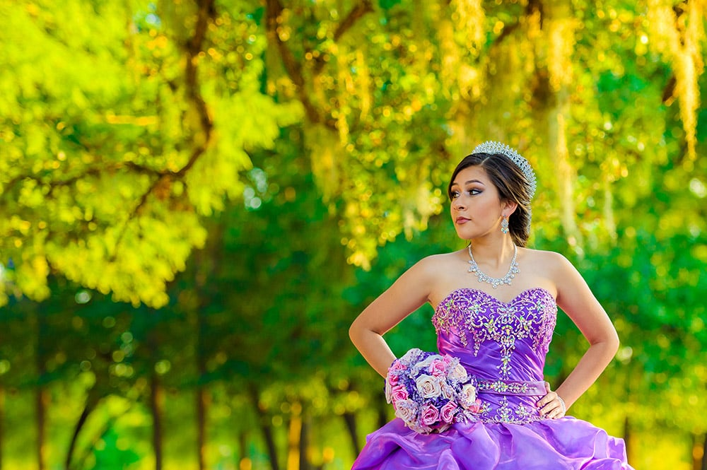 Jennifer, Quinceañera Session by Lunabela Photography - Herman Park, Houston, TX.