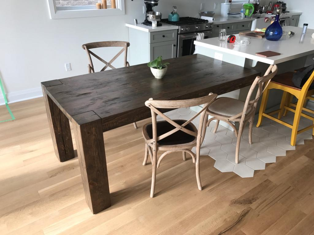 Stained Reclaimed Hemlock with Post Base