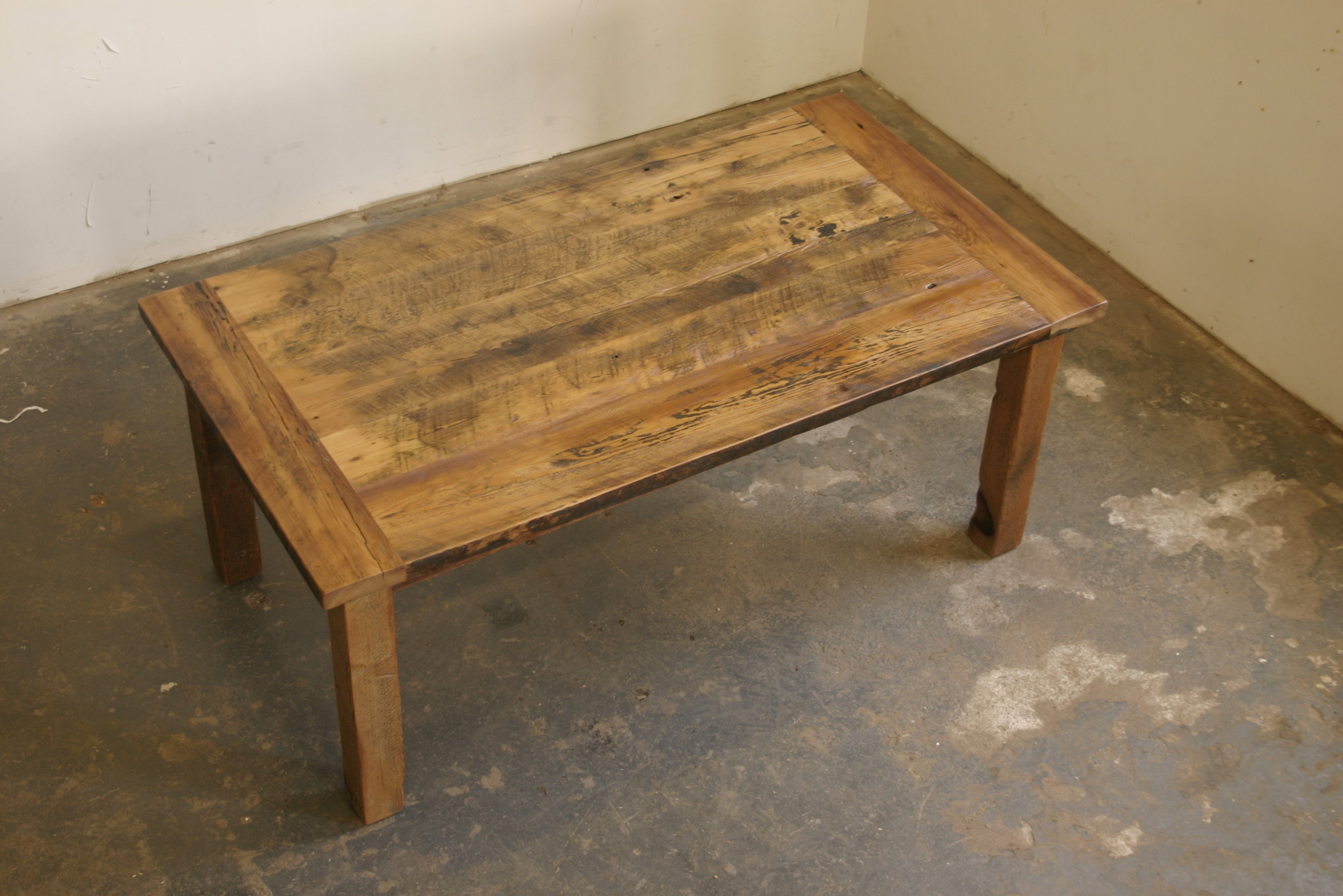 Reclaimed Hemlock Top with Matching Post Base