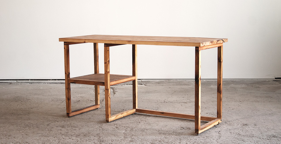 Reclaimed Lumber Minimalism Desk