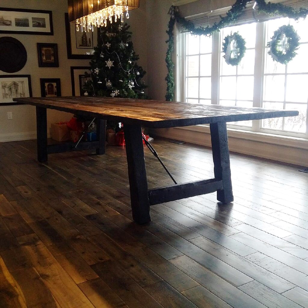 Reclaimed top with custom base