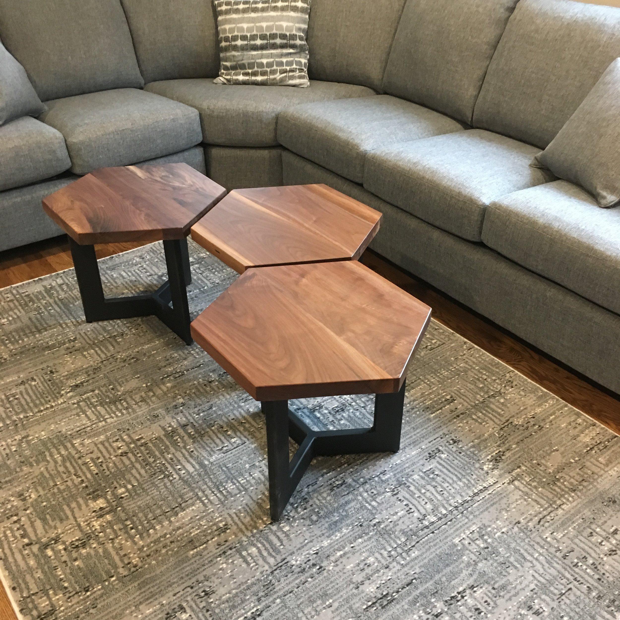 Walnut Bunching Tables