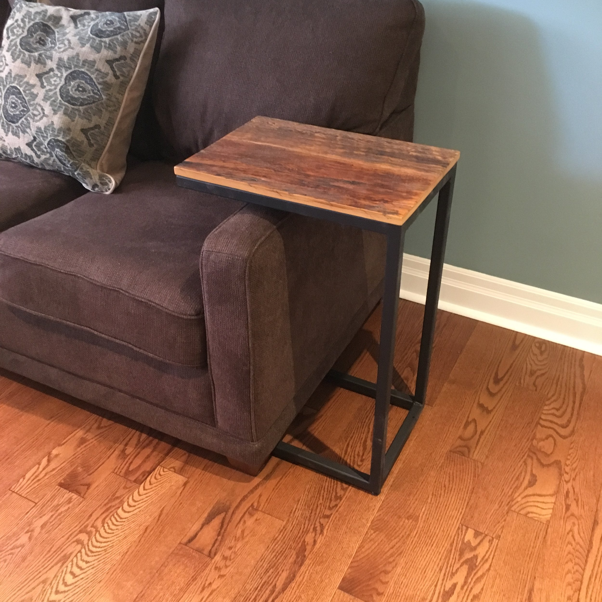 Reclaimed Wood Couch Side Table