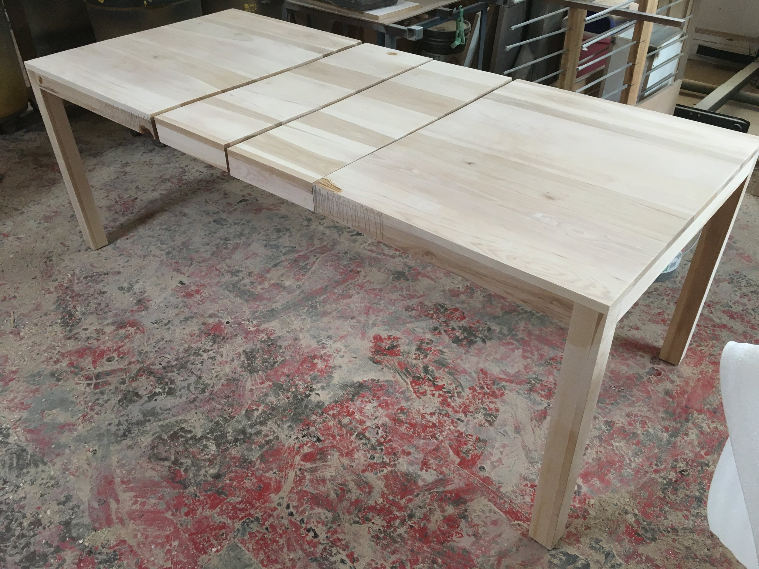 Custom Refinished Table with Extension Added