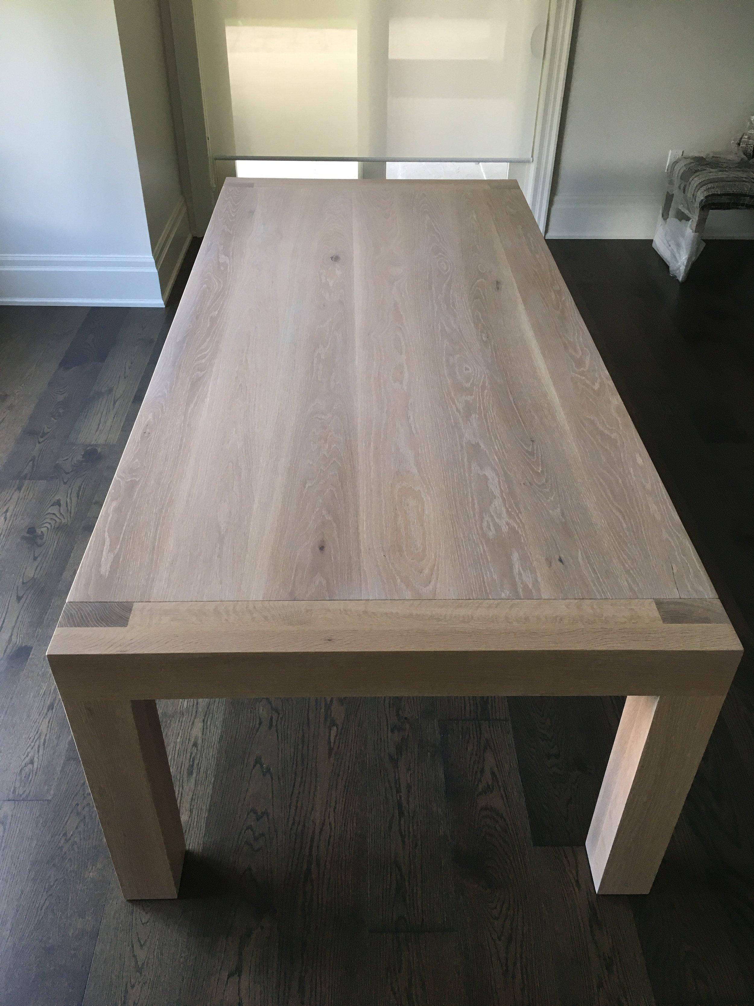 Custom White Oak Table