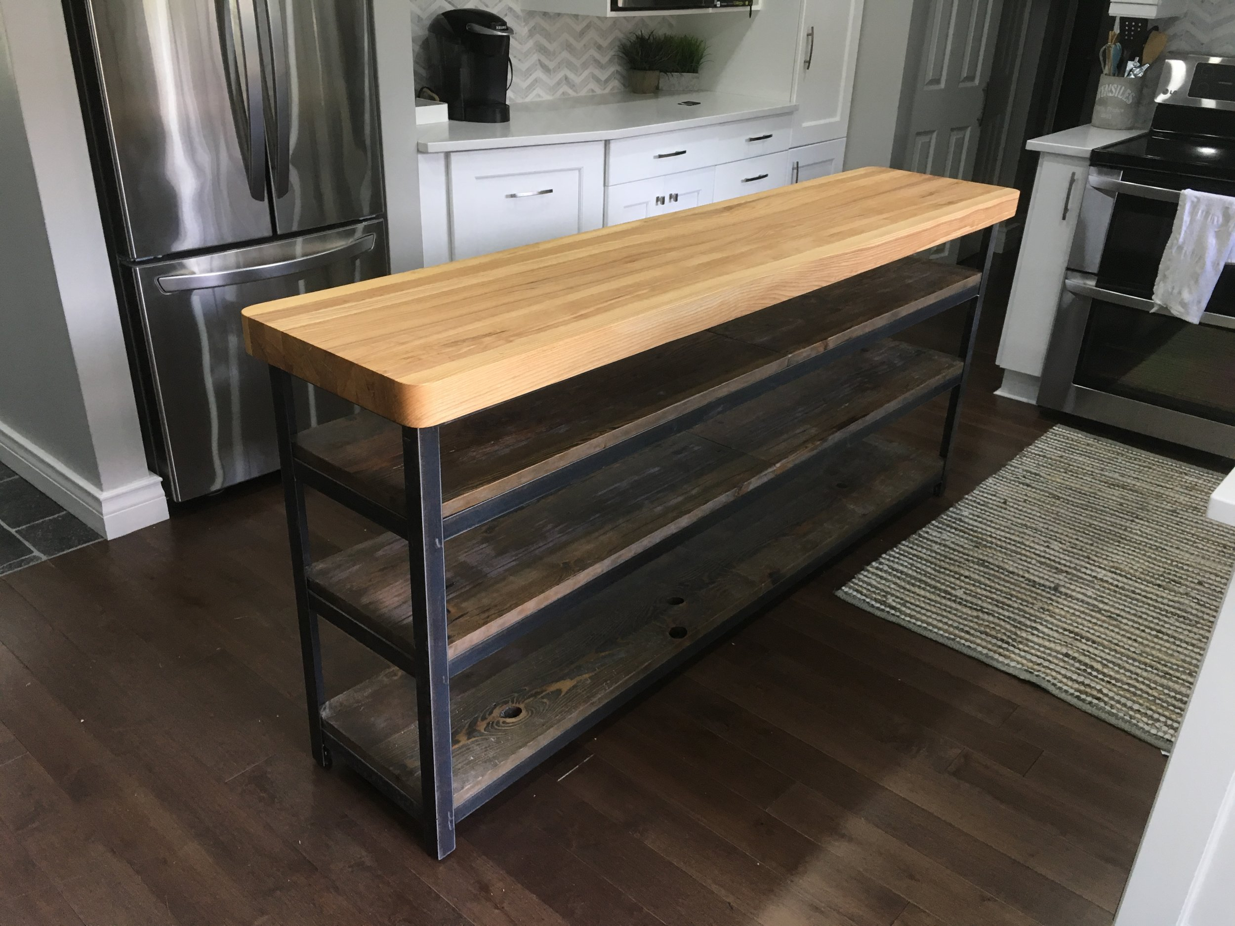 Custom Island with Butcher Block Top