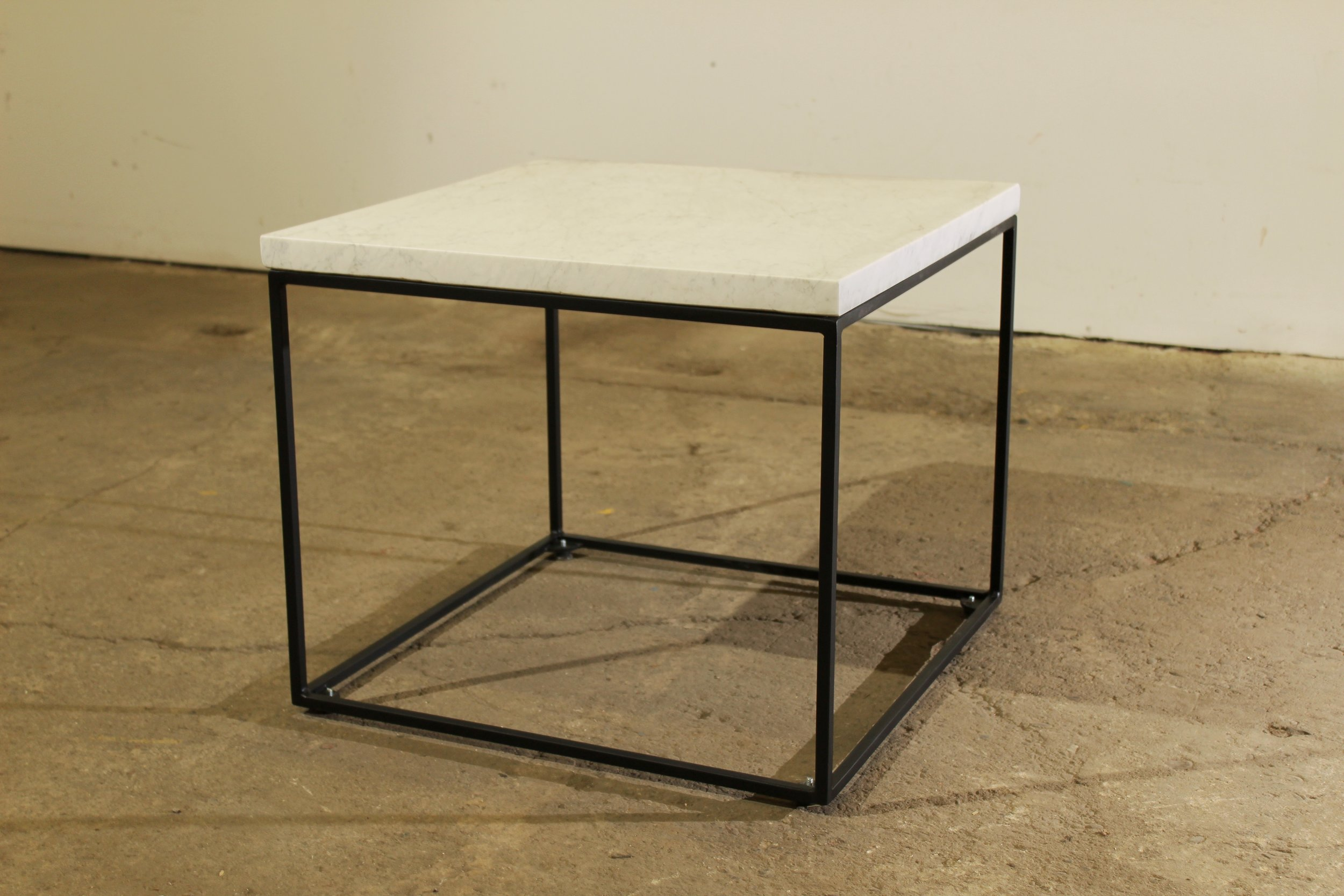 Salvaged Marble Coffee Table