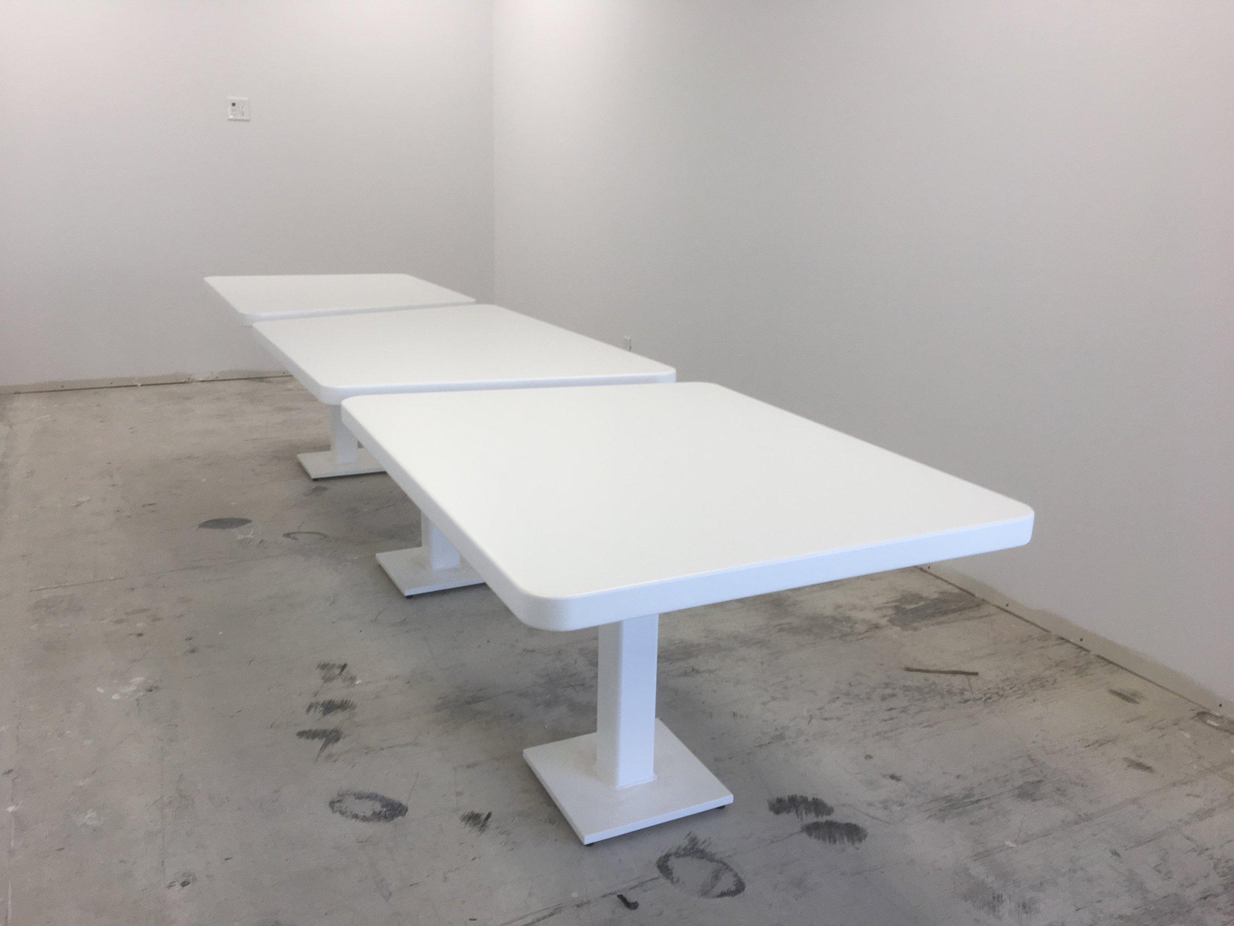 Custom White Boardroom Table