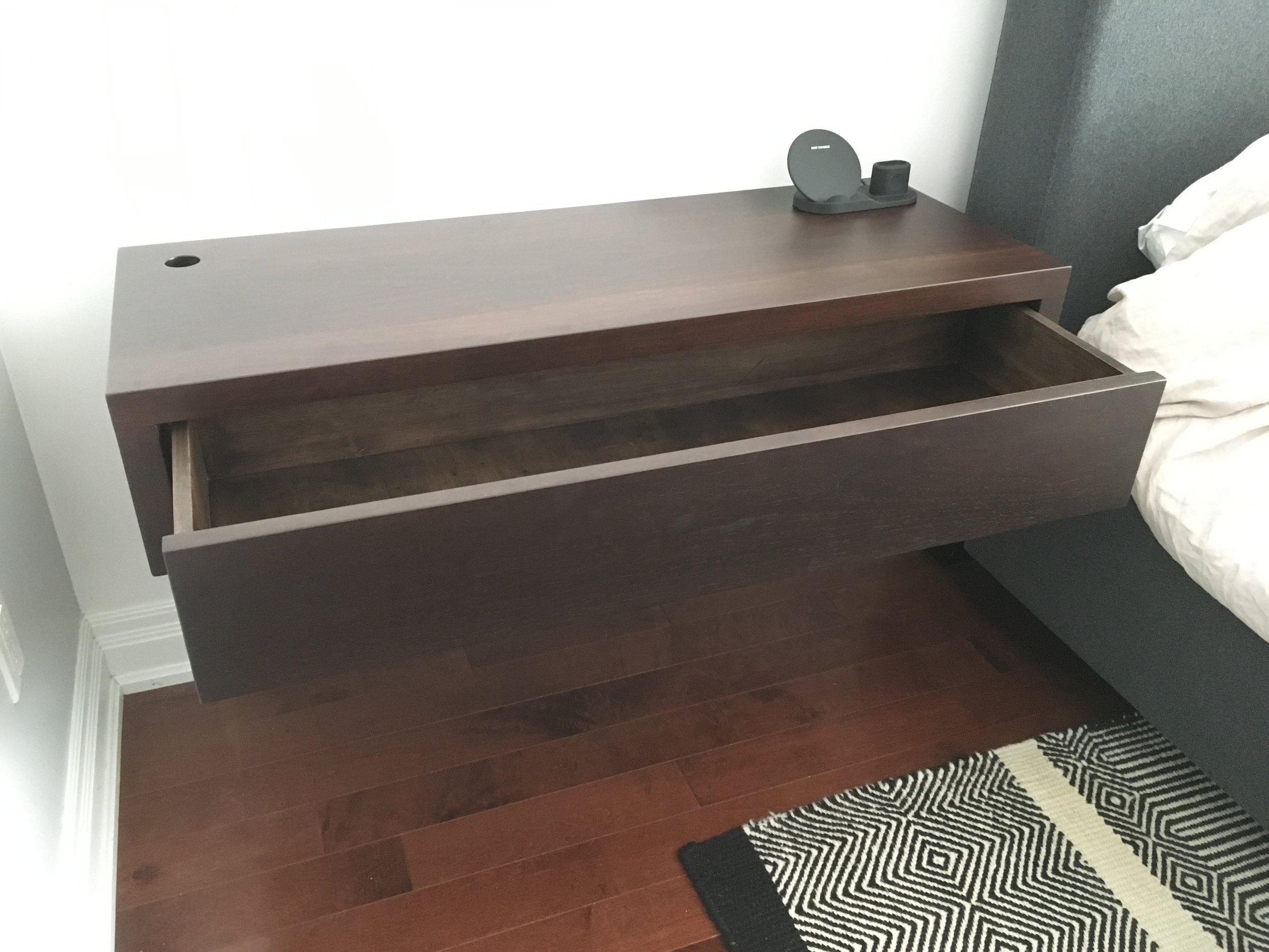 Walnut Floating Side Table