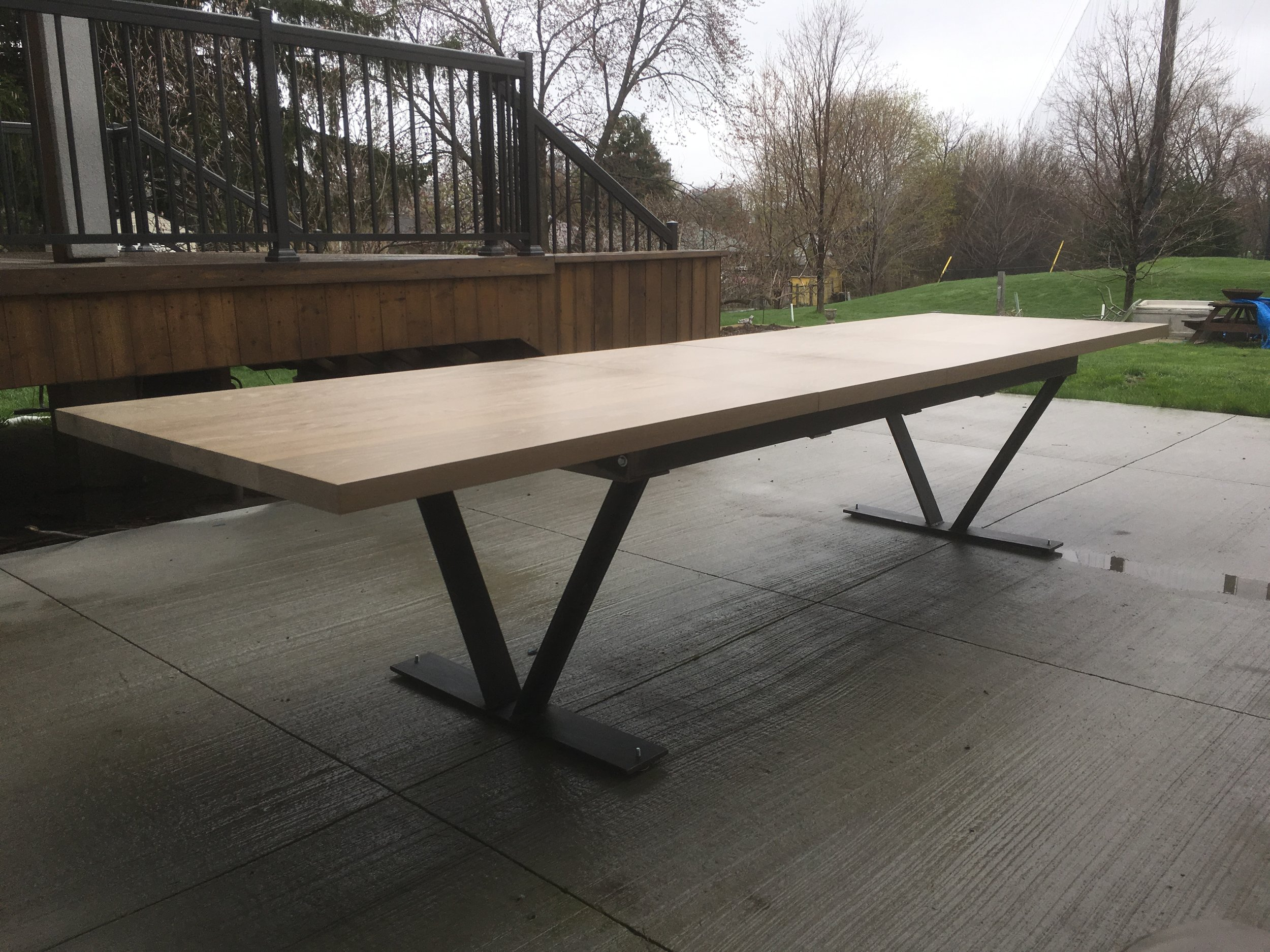 White Oak Outdoor Extension Table