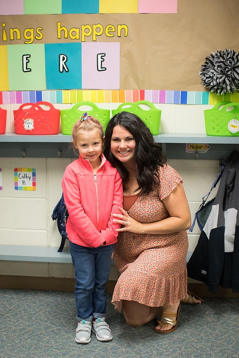 Ainsley with her teacher!