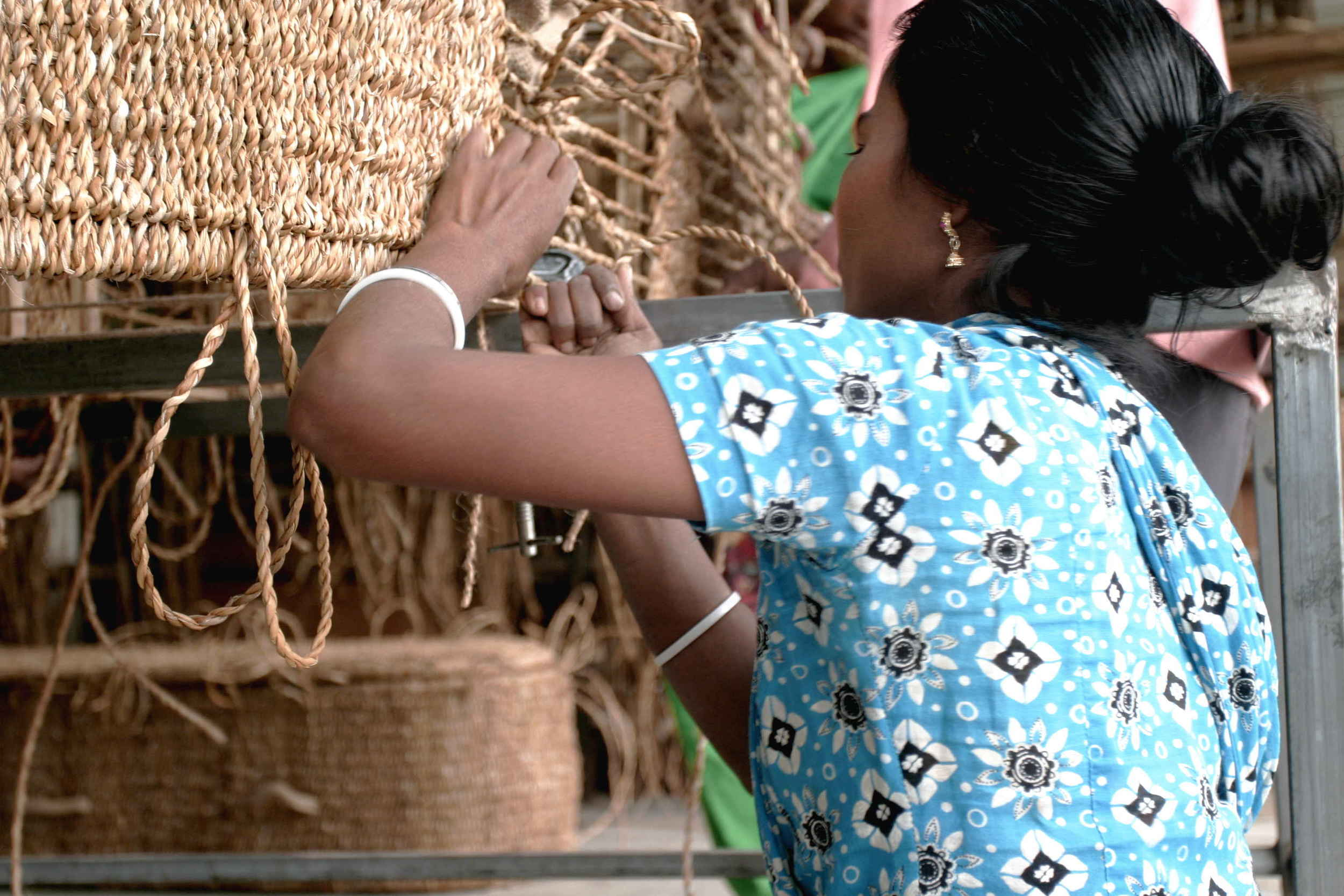 Weaving a seagrass coffin is intricate and skilled work