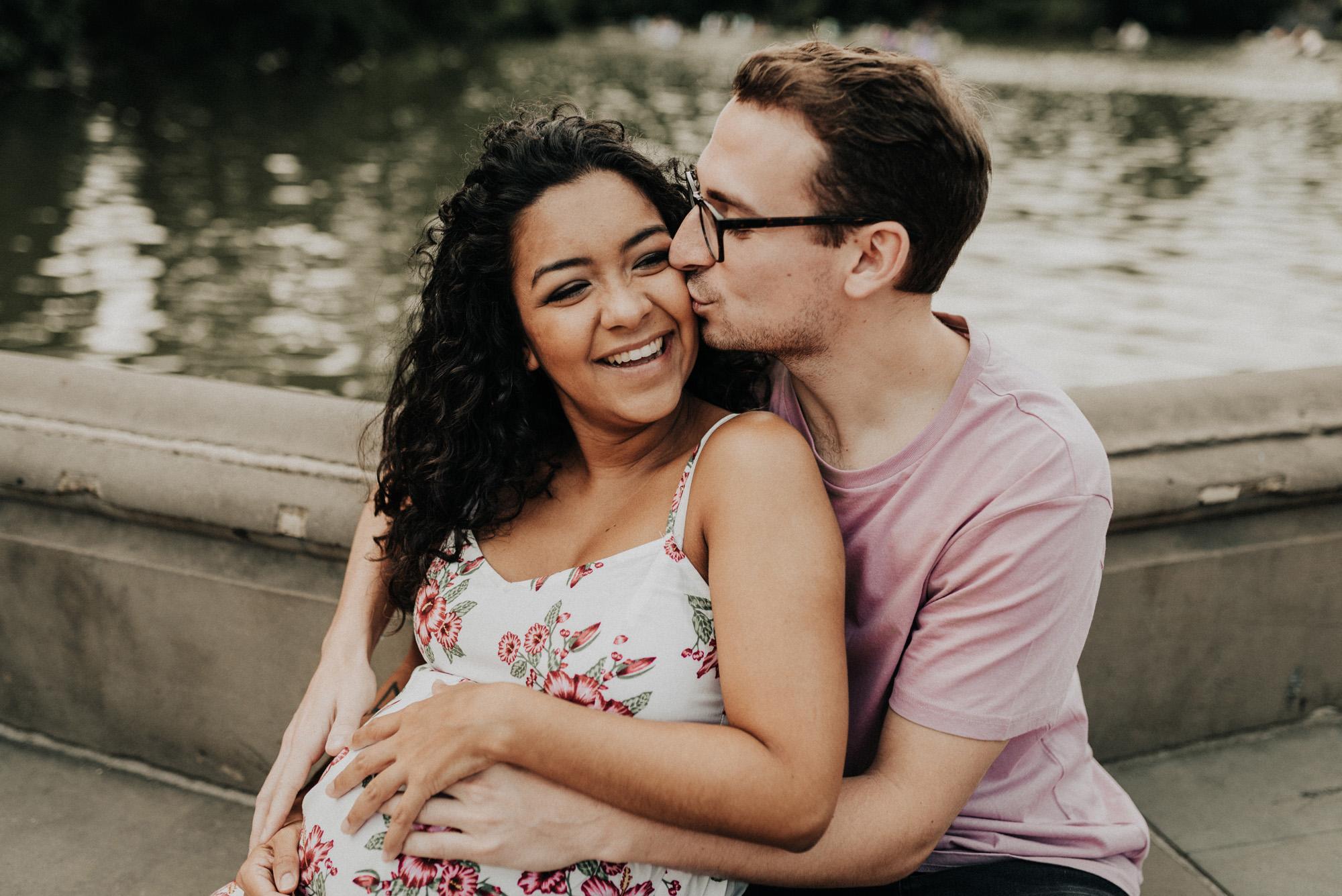 Bethesda Terrace Fountain Maternity Photos