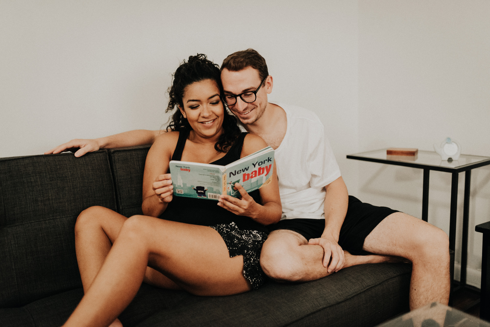 Upper east side manhattan in home Maternity Photos
