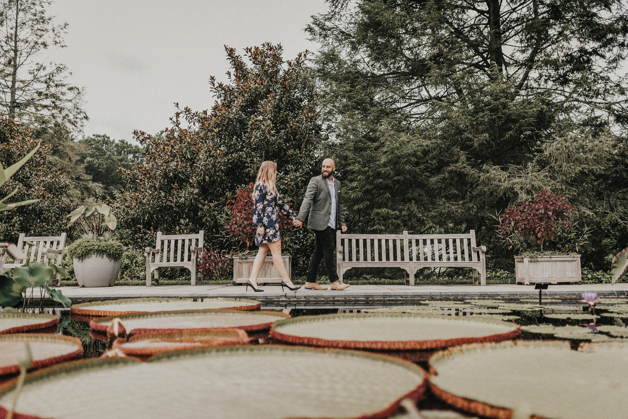 Longwood Gardens Engagement Photos