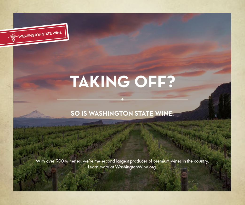 WASHINGTON STATE WINE: Airport Billboard