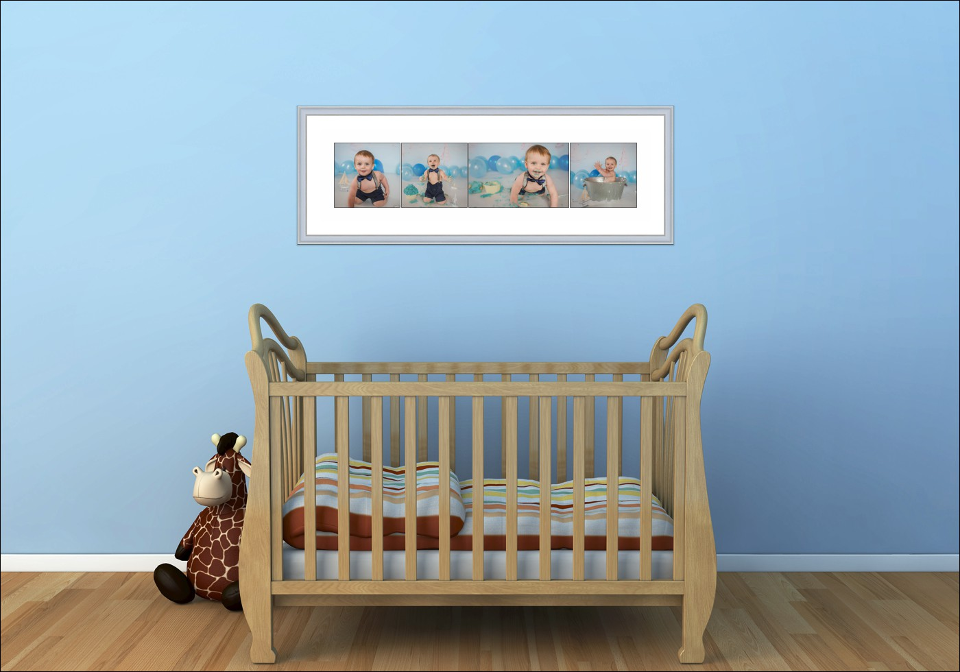 """STORY Board Prints - These are a great way to showcase a number of beautiful images from your session in one frame. Available in many different sizes, with the most popular being 30x12"""" (as displayed) or a 20x20"""". These are beautifully professionally framed & matted with choices of frame colours. This wall art as displayed is $690."""