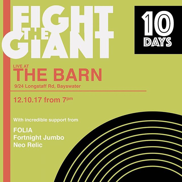 We'd love to see your pretty faces supporting our headline show in 10 days. Tickets on the door... 🕺👏🏽 #livemusic #melbournemusic @ambermicproductions11  #thebarnbayswater