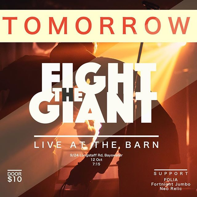 Tomorrow we headline The Barn in Bayswater for a rare show in the burbs! Tickets on the door.