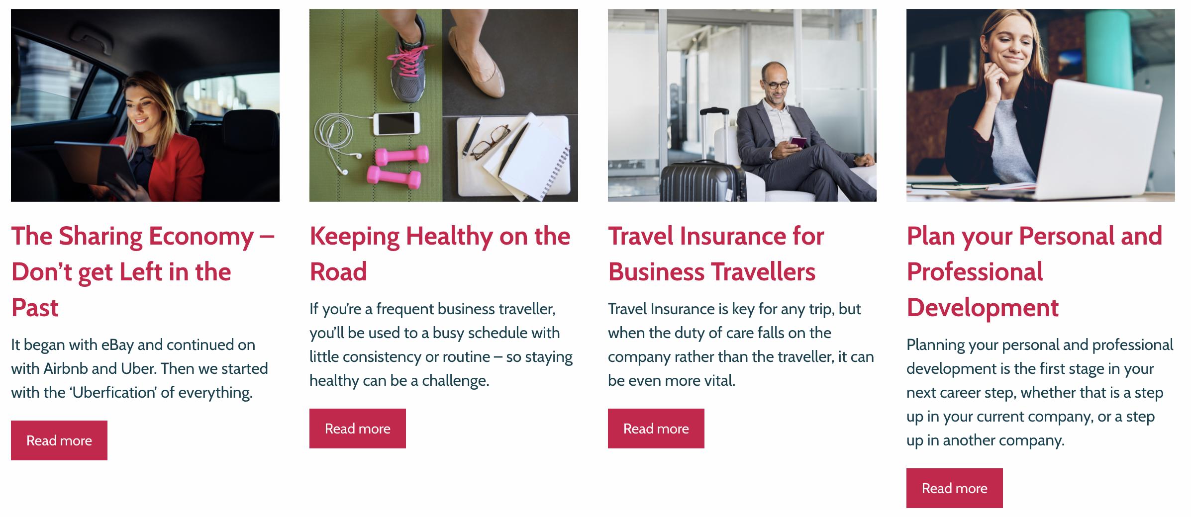 Corporate Traveller content
