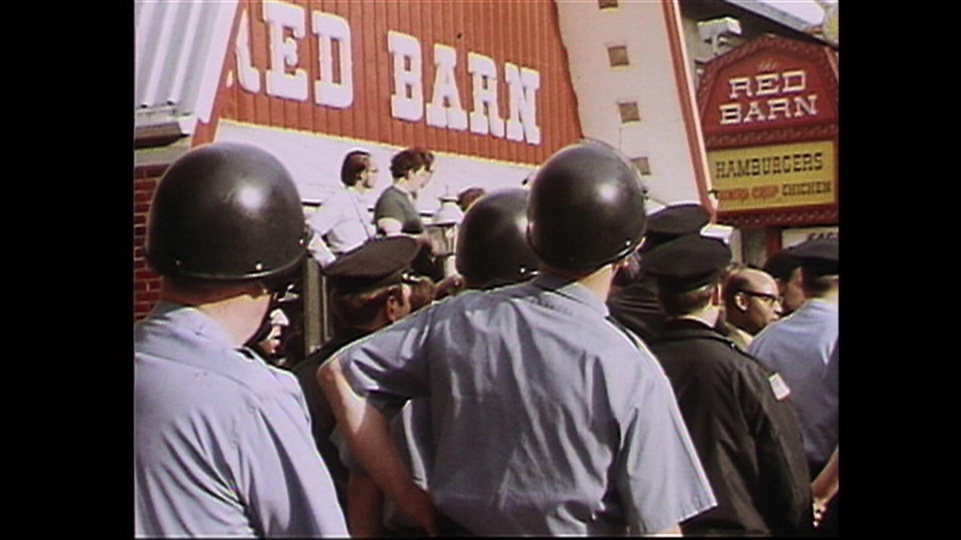 Red Barn Protest - Allan Spear at Oak St..jpg