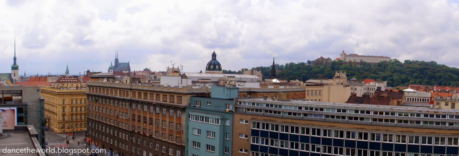 View of Brno from our hotel window!
