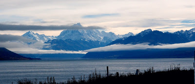 On the way from Queenstown and Christchurch: Mount Cook - the tallest mountain in NZ