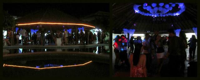 The 'piscina' dance floor at night