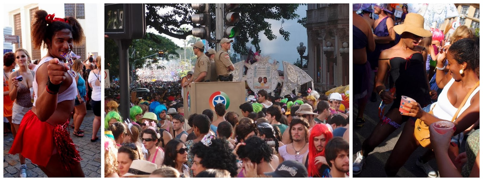Street party in Florianopolis!